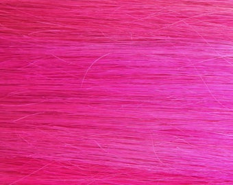 HOT PINK 100% Human Hair Extensions : Double Wefted Clip In Hair Extensions, Remy Hair Extensions, Neon Hair, Single Clip Extensions
