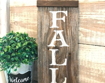 Fall sign, Fall decoration, rustic, Fall sign, hand painted wood, gift, fall table decoration, Autumn decor, home decor, thanksgiving
