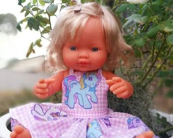 Miniland doll dress MLP my little pony. Made in Australia