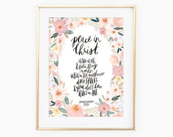 LDS Youth 2018 Theme / Peace in Christ / D&C 19:23 / watercolor floral