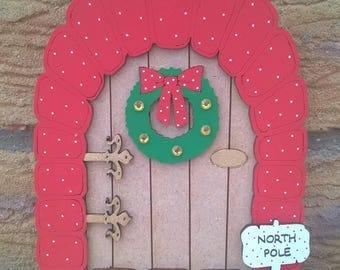 Christmas traditions elf door xmas decoration
