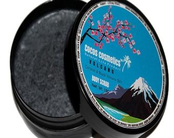 Mothers Day gift/ Hawaiian Black Lava Scrub/ Black Hawaiian Sea Salt Scrub/ Black Salt Scrub/ Exotic Body Scrub/ Volcano black salt/