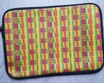 AFROOPRINTS. Computer printed African Kente XXXVII pouch