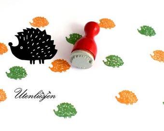 Stamp hedgehog Ø 12 mm, rubber stamp