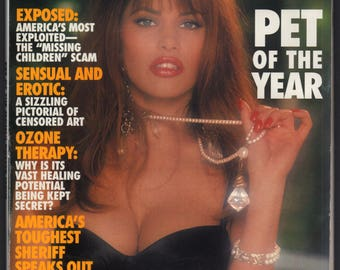 Mature Vintage Penthouse Magazine Mens Girlie Pinup : January 1996 VG+ White Pages Intact Centerfold