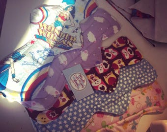 Menstrual Pads, Cloth Pad Set, Reusable Pads, Reusable Cloth Pads, CSP, WSP, Sanitary Pads, Cloth Pads, Mamacloth, Mama cloth