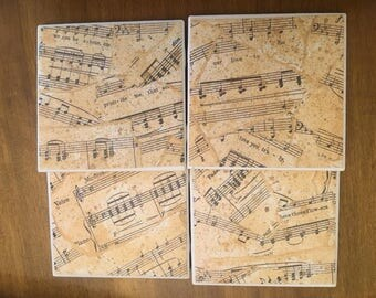 Music Note Drink Coasters
