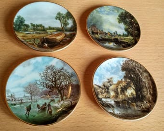 4 Crown Staffordshire Miniature Wall Plates