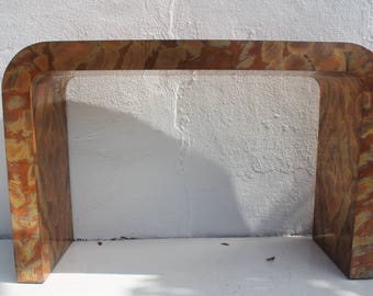 Paul Evans Style  Waterfall Copper Console  Table.