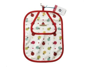 Peg bag in decorative ladybird fabric
