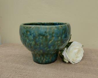 Green Pot, Glazed Pot, Pottery Vase, Pottery Plant Pot, Artisan Pot, Plant Pot, Pottery Bowl