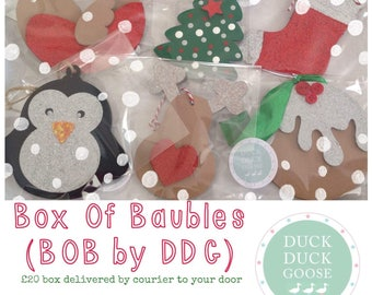 Christmas Bauble Set (BOB = Box of Baubles) by Duck Duck Goose