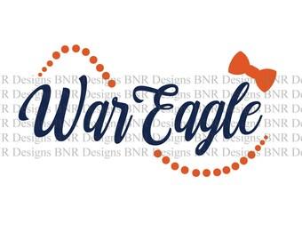 War Eagle SVG, Auburn SVG, Auburn Tigers, SVG File, Dxf File, Cricut File, Cameo File, Silhouette File