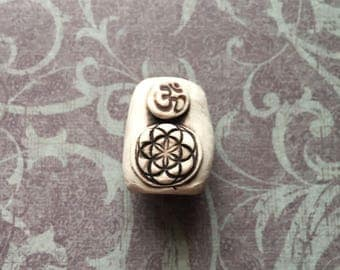 Om & Seed of Life Dread Bead