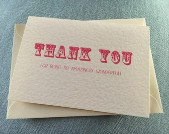 Thank you card cute funny vintage style amazing