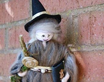 Winnie - Wool Felt Witch. Woodland Folk. Earth Witch. Wool Felt Fairy. Hand made with love. Magical Fairy. Spells
