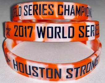 Houston Astros 2017 WORLD SERIES CHAMPIONS Houston Strong Silicone Bracelet