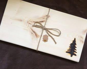 Rustic Pine Serving Board - Large