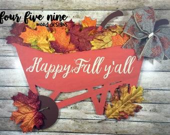 Happy Fall Y'all Door Hanger