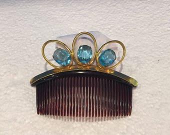 Vintage Jeweled Hair Comb