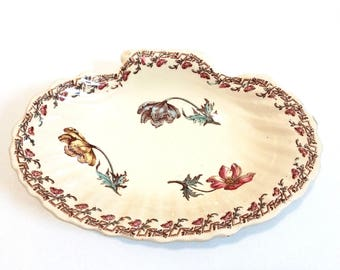 vintage french ceramic ring dish, jewelry display, ring bowl, ring holder, trinket dish