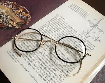Windsor Style Eyeglasses, Small Round Antique Windsor Style Eyeglasses, Vintage Eyeglasses, John Lennon Eyeglasses, Harry Potter Eyeglasses