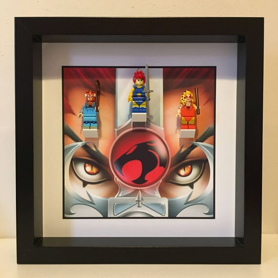 Thundercats 3PC Minifigure Frame, Mum, Gift, Geek, Box Frame, Friends, Dad, Idea, Birthday, Anniversary, For Him, Lego, Christmas