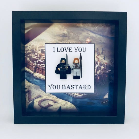 "Game Of Thrones 2PC ""I Love You, You Bastard"" Minifigure Frame"