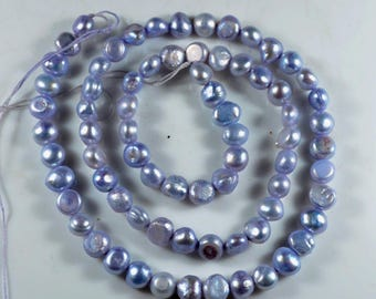 "Beautiful Natural Freshwater Pearl Beads Loose Gemstone Rondelle Beads - 5 to 6 mm - 16"" inch ~ 79 Ct. - Women Jewelry"