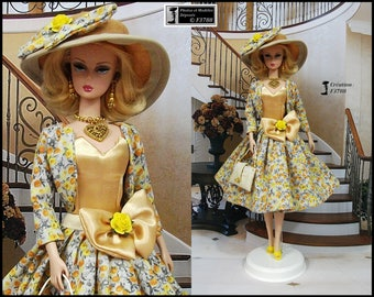 """Barbie dress """" Cécile """" Outfit for Barbie doll Silkstone Fashion Royalty Poppy Parker by f3788"""