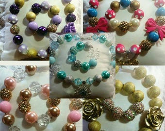 Gorgeous necklace and bracelet sets for your princess!