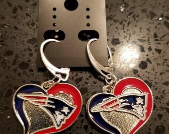 New England Patriot Charmed Earrings