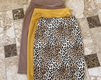 Pencil Skirts, knit Skirts, Custom Made Skirts