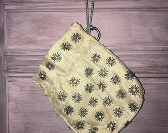 Vintage 60's Silver Beaded Clutch