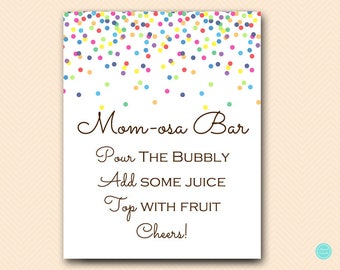 Sprinkle Momosa Bar Sign Baby Shower, Mimosa Bar Printable, Bubbly Bar Sign, Mimosa Sign, Mimosa Bar, Baby Shower Decoration Signs TLC108