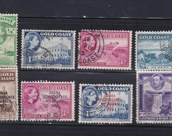 8. Vintage Gold Coast Stamps.