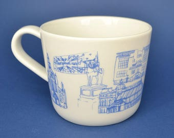 Glasgow Mug - hand printed screen printed ceramic cup