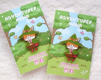 Adventurer Nana Shiba Inu Explorer Hard Enamel Pin (Gold)