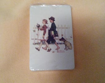 80s Norman Rockwell Playing Cards