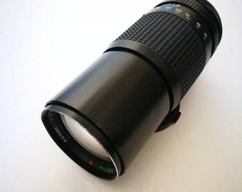 Vintage 1970s Tokina 300 mm Tele Lens for Canon FL/FD SLR Cameras