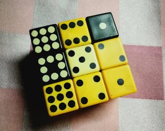 Puzzle cube - Brain game - Old logic game - 3D puzzle square - Magic cube - Old toy, Vintage