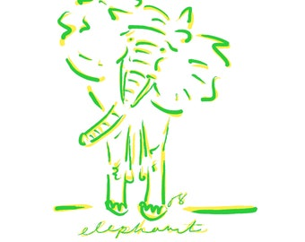 ANIMALS (green and yellow)