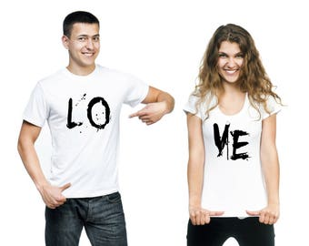 Valentine's Couple's LOVE T-shirts (2)