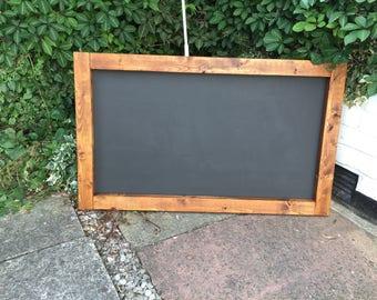 Rustic chalkboard wooden menu wedding menu chalkboard rustic chalkboard