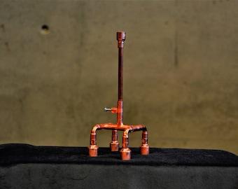 SET 32 copper pen on a holder, copper anniversary gifts for men, pipe pen, boss pen, chief pen, cool pen, unique pen, desk pen set