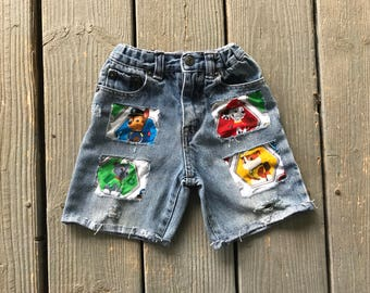 Boys Paw Patrol Patched Jeans Distressed Boys Jeans Boys Pants Paw Patrol Birthday Shorts Option now