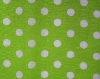 1 green pattern embroidery dots 10x12cm 100% cotton