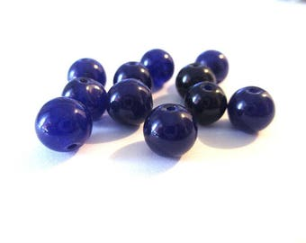 10 pearls dark purple natural jade 3 8mm (11)