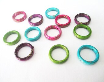 20 drawbench acrylic Circle Pendant beads mix color 19mm
