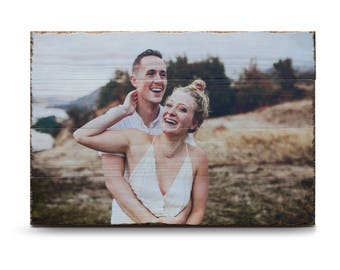 Photo on Wood - Any Size | Custom Wood Print | Wedding Decorations | Unique Gifts | Wedding Gift | Wedding Signs | Engagement Gift | Photo